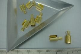 [5394 ] Veterklem 8x5 mm. Goudkleur, 8 stuks