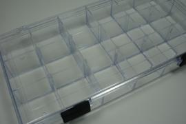 *[ 9092 ] Plexiglas Sorteerdoos 18 vaks, per stuk