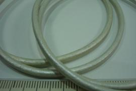 [ 6766-A ] Echt DQ Leer 3 mm. Wit, per meter