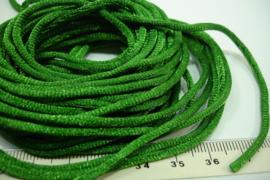 [ 5555 ] Satijn koord 2 mm. Groen , 5 meter