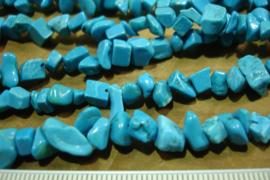 +[ 8783 ] Natuursteen Split S, Turquoise, per streng