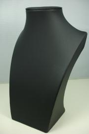 *[ 9203 ] Hals Luxe Zwart Leer, Mini 20 cm.