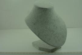 *[ 9333 ] Halsje klein 17 cm. Grijs fluweel