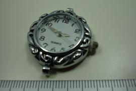 [ 0932 ] Horloge kast bewerkt, 31 x 28 mm.  per stuk