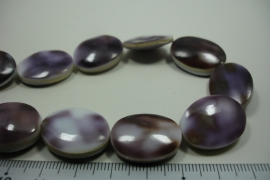 [ 10004 ] Tiger shell Purple 20 x 15 x 4.5 mm. per streng