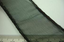 [ 6879 ] IJzerdraad lint 3 cm. Zwart, per 5 meter lengte