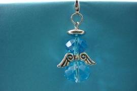 [ 1193 ] Engeltje 45 mm. van Spacer Glas Kralen, Turkoois Blauw, per stuk