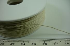 [ 6338 ] Waskoord 0.9 mm. Creme, 100 meter
