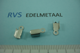 [ 8428 ]  RVS,  Veterklem glad, 3 mm. inw. per 8 stuks