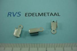 [ 8428 ]  RVS,  Veterklem glad, 3 mm. inw. per 8 stuks