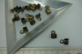[5388 ] Veterklem 8x4 mm. Brons, 16 stuks