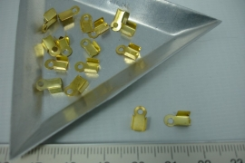[5386 ] Veterklem 8x4 mm. Goudkleur, 16 stuks