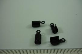 [ 6573 ] Veter klem 8 mm. Git Zwart, 4 stuks