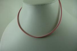 [ 1404 ] Veter Ketting  37 cm. Roze