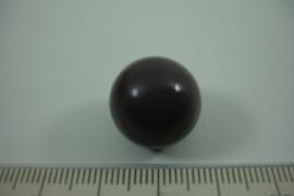 [ 0909 ] Klank bal 16 mm. donker Taupe kleur.