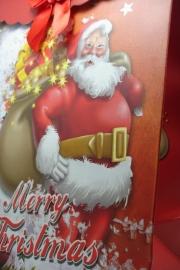 *[ 5971 ] Kerst tas 19 x 27 cm. Kerstman met luxe kado, per stuk