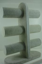 *[ 9342 ] 3 rol hoog 32 cm. vast model, D. Grijs fluweel