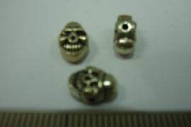 [ 0325 ] Doodshoofd Clown 9 mm. Zilverkleur, per stuk