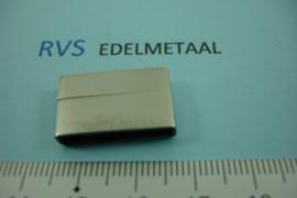 [ 8419 ]  RVS,  Magneet slot  20 x 3 mm. inw.  per stuk