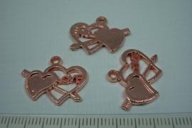 [0696 ] Love Harjes 18 x 22 mm. Rosé kleur, per stuk