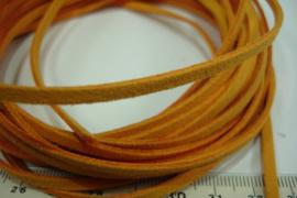 [ 6023 ] Suede veter 3 mm. Oranje, 5 meter