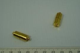 [0437 ] Magneet slot staaf Goudkleur,  per stuk
