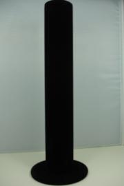*[ 9105 ] Armband standaard recht model, Zwart Fluweel, per stuk