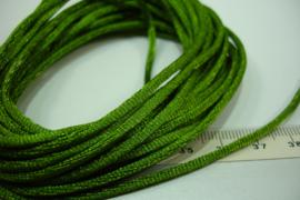 [ 5551 ] Satijn koord 2 mm. L. Leger Groen, 5 meter