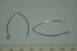 [5327 ] Oorhaak Ellipse Verzilverd, 1 paar