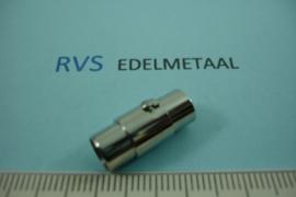 [ 8520 ] RVS, Magneet slot met Bajonetsluiting, 6 mm. inw.  per stuk