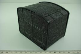 *[ 9363 ] Horloge/Armband doosje 10 x 7.5 cm. Zwart