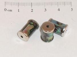 (0153) Paua schelp beads type 1.
