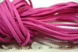 [ 6288 ] Plat Suede Veter 2.8 mm. hart Roze, per meter