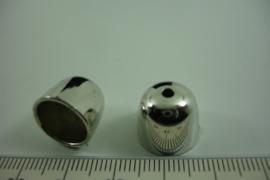 [ 6707 ] Metallook Kap 10 mm.  Zilverkleur,  per stuk