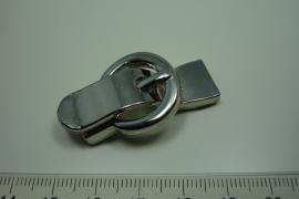 [ 6164 ] Gesp slot 42 mm. Zilverkleur, per stuk