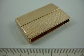 *[ 0971 ] Magneet slot 39.4 x 25.4 mm.Goudkleur met werkje, per stuk