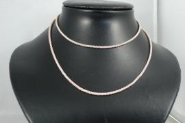 [ 5875 ] Ketting metaal Licht Rosé Goud, 76 cm. per stuk