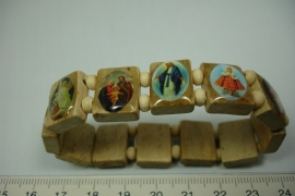 [5733 ] Geluks armband Beige, per stuk