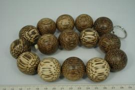 *[5301 ] Palmhout 30 mm. gebleekt,   15 stuks