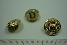 [ 0884 ] sluit knoop 15 mm. Kunstof, Goud, per stuk