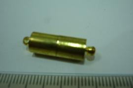 [ 0339 ] Magneet slot 16 x 7 mm. Goud kleur, per stuk