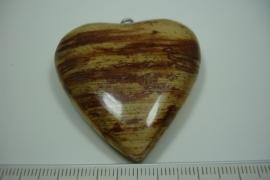 [ 6172 ] Hart met Bananenblad 4.5 cm. per stuk