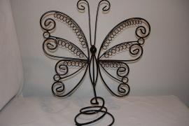 *[ 9263 ] Vlinder 34 x 30 cm. 60 lussen, Zwart