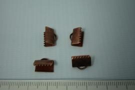 [5373 ] Lintklem 10 mm. Koper kleur, 4 stuks