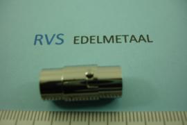 [ 8440 ] RVS,  Magneet slot rond  8 mm. inw. met Bajonet,  per stuk