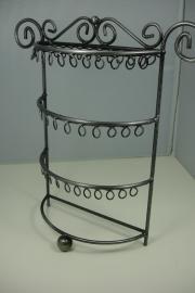 *[ 9201 ] 55 lussen display, 27 x 26 cm. Grijs Metaal, per stuk