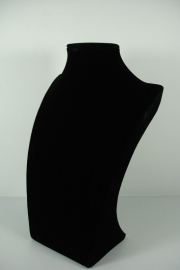 *[9038 ] Hals Luxe Zwart Fluweel, Middel 29 cm.