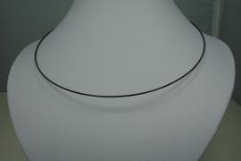 [ 0799 ] Spang Zwart met Magneet slot, 45 cm. per stuk