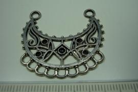 [ 6185 ] Ornament 35 x 36 mm.  nr. 07, Zilverkleur, 5 stuks