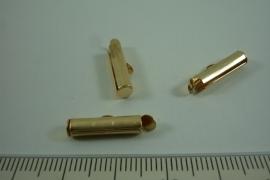 [ 6646 ] Inschuif buis klem 15 mm. Goudkleur, 6 stuks